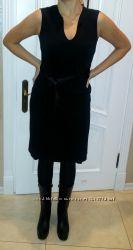Черное платье Nadine размер L, классика, с бантом, без рукавов