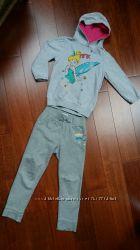 Спортивный костюм серый 5-6 лет, спортивки, Childrens Place, толстовка, коф
