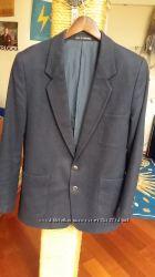 Пиджак синий теплый Gierre, размер 40, шерсть, для школы, мужской, 170 см