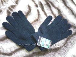 Женские перчатки, не утепленные, одной вязки.