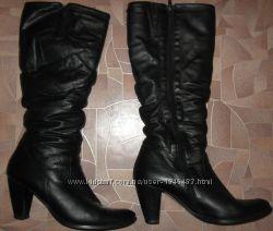 SALA Жіночі зимові чоботи, 39, натуральна шкіра, цигейка