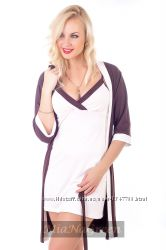Комплект для сна, ночная рубашка и халат К110н