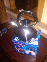 Чайник со свистком для плиты на газ 2, 5 л, 3л