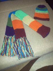 Яркий набор шапка  шарф