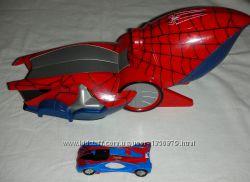 Человек паук пусковая установка и машинка фирмы Majorette.