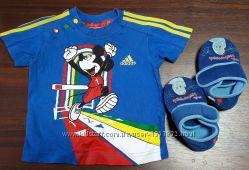 Яркая футболка Adidas 3-6мес