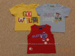 Наши футболки для мальчика от 6 до 12 мес. есть новые