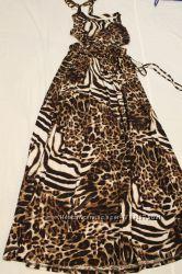 Женский сарафан Леопардового цвета