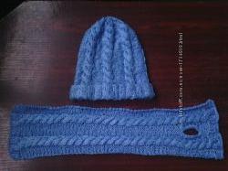 Вязанная шапочка и шарфик