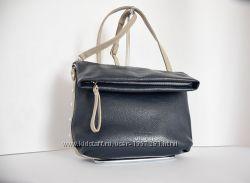 Кожаная сумка кросс-боди, синяя
