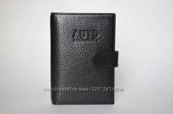 Кожаная обложка для водительских прав и паспорта