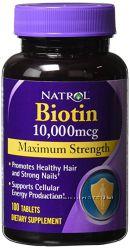 Biotin витамины для красоты волос ногтей кожи лица биотин биодобавка из США