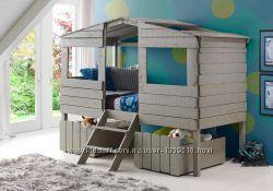 Детская кроватка домик Коттедж массив дерева