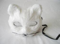 Маска Белый кот