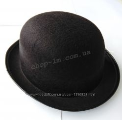 Шляпа-котелок фетр, черная
