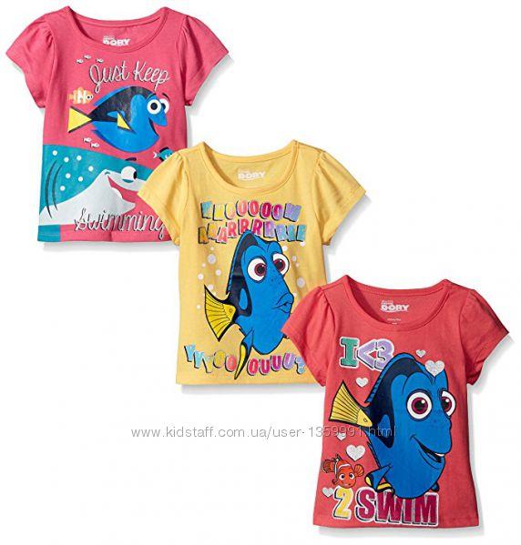 милые хлопковые футболки Disney с рыбкой Dory на девочку на 6-7 лет