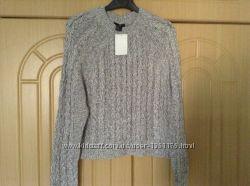 Новый меланжевый свитер H&M размер XS-S оригинальная вязка