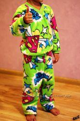 Распродажа. Махровая теплая пижама для девочки и мальчика. Укр. хлопок