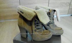 Ботинки ESPRIT натуральная замша зима