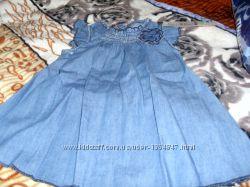 Летнее легкое платье Глория Джинс 6-12 месяцев новое