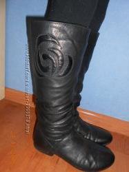 Продам кожаные сапожки на натуральном меху. Италия. 38 размер