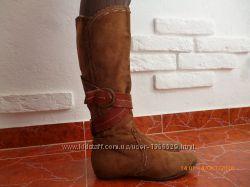 Сапоги кожа р. 35, 36 стілка 24 см.