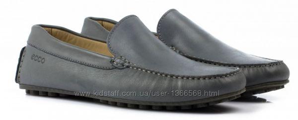 Шкіряні мокасини Ecco Dark Grey Leather Driving 806e26d5d2173