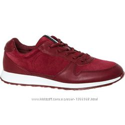 Шкіряні кросівки Ecco Burgundy Leather Sneak Trainers