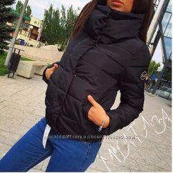 Новая женская Куртка Евро зима sm Только в черном цвете