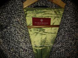 Пальто Dinomoda, шерсть р. 52-54, палантин в подарок