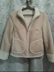 дубленка куртка next р. 46-48 на жилетку