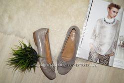 40р. Gabor Германия Кожа Красивые балетки, удобные золотые туфли