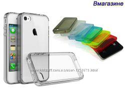Чехол силиконовый прозрачный для IPhone 4 4S 5 5S. Есть цвета