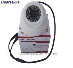 Купольная камера видеонаблюдения 800 ТВЛ, ИК подсветка. Гарантия