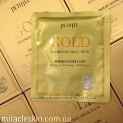 Petitfee Гидрогелевая маска с золотым комплексом 5Gold Hydrogel Mask Pack
