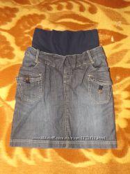 Джинсова юбка для вагітних Юбка для беременных
