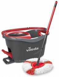 Швабра-вертушка с отжимом VILEDA EasyWring&Clean Turbo комплект для уборки