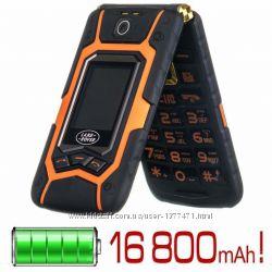 Телефон раскладушка Land Rover X9 IP67 black-orange 2 Sim