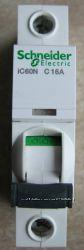 Автоматический выключатель iC60N 1П 16A C Schneider