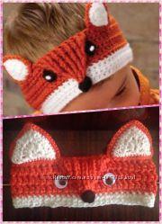 Вязанные повязки на голову для девочек