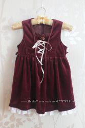 Платье из трикотажного велюра-бархата на  рост 98