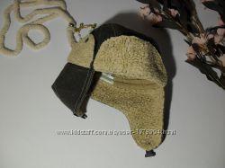 Детская шапки зимняя утепленная авиатор ушанка Brums