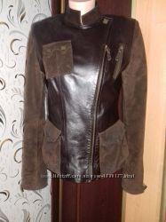 Натуральная кожаная замшевая куртка Fierra Италия