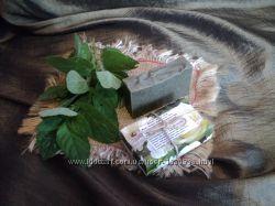 Натуральное мыло  Мятное с голубой глиной