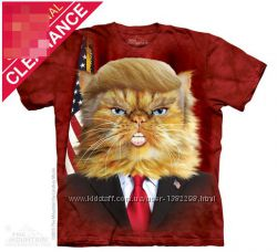 Женская футболка The Mountain 3 D Дональд Трамп Кот в размере М