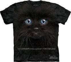 Женская футболка The Mountain 3 D Черный Кот в размере S