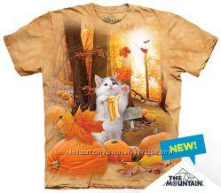 Женская футболка The Mountain 3 D Осенний котик в размере S