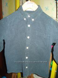 Рубашка вельветовая ESPRIT, свитерки на мальчика 5-6 лет H&M, GEORGE