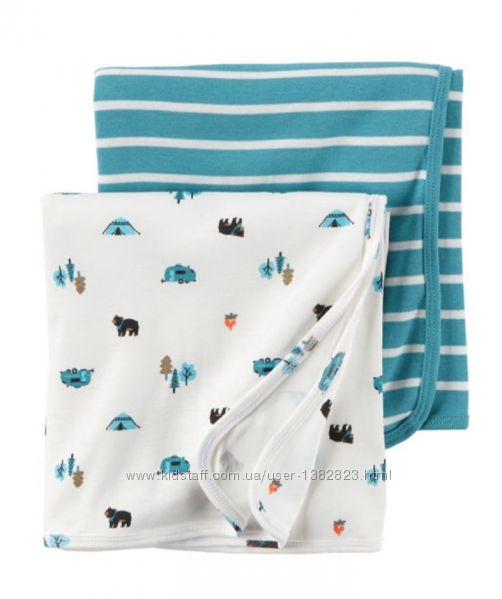 Трикотажные пеленки Carters  - большие 5 видов