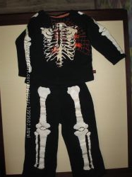 Костюм - пижама Смешной скелет на 3 - 4 года